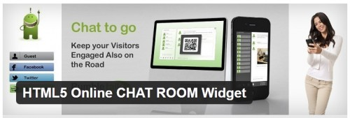 HTML5 Online CHAT ROOM Widget