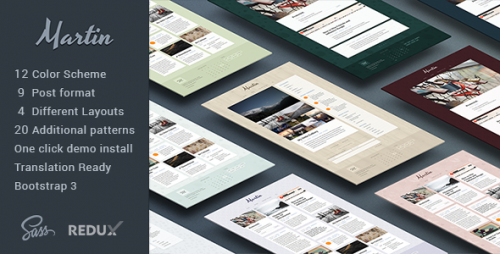 Martin - Powerful & Flexible WordPress Blog Theme