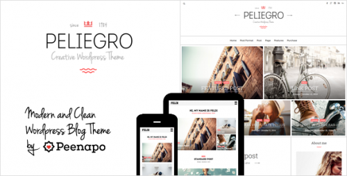 Peliegro - Clean Personal WordPress Blog Theme