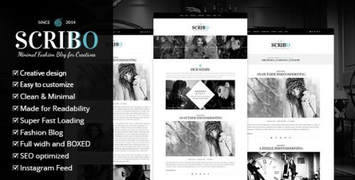 Scribbo - Minimal Elegant Fashion WordPress Blog Theme
