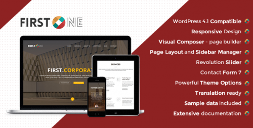 FirstOne - Responsive OnePage WordPress Theme