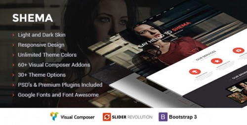 Shema - Creative One Page WordPress Theme