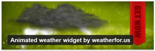 Animated Weather Widget