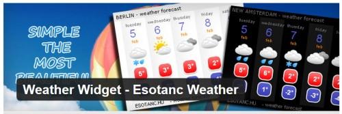 Weather Widget - Esotanc Weather
