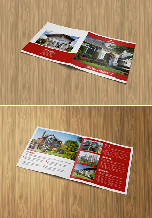 Square Bi Fold Real Estate Brochure