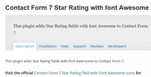 Contact Form 7 Star Rating with font Awesome