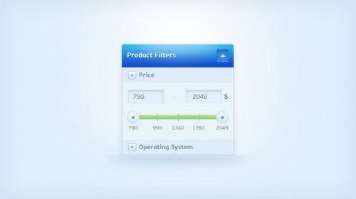 Clean Price Slider