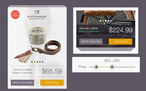 Free Online Store UI Kit