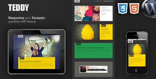 Teddy Responsive Blog Magazine Portfolio WP Theme