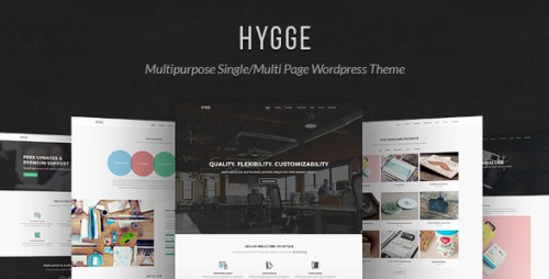 Hygge - Multipurpose Single, Multi Page WP Theme