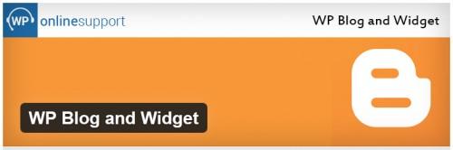 WP Blog and Widget