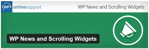 WP News and Scrolling Widgets