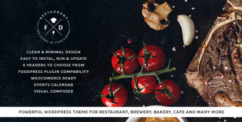 Food & Drink - Restaurant, Cafe, Pub WP Theme