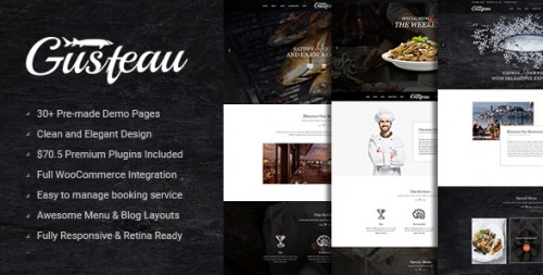 Gusteau - Elegant Food and Restaurant WordPress Theme