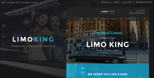 Limo King - Limousine, Transport, Car Hire Theme