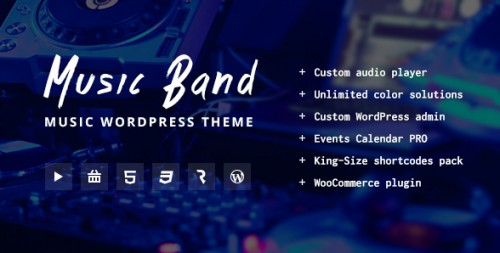 Music Band Live Event & Music Club WordPress Theme