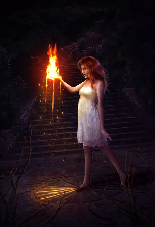 How to Create a Fantasy Photo Manipulation with Fire