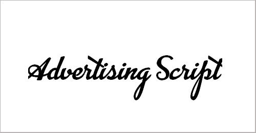 Advertising Script Font