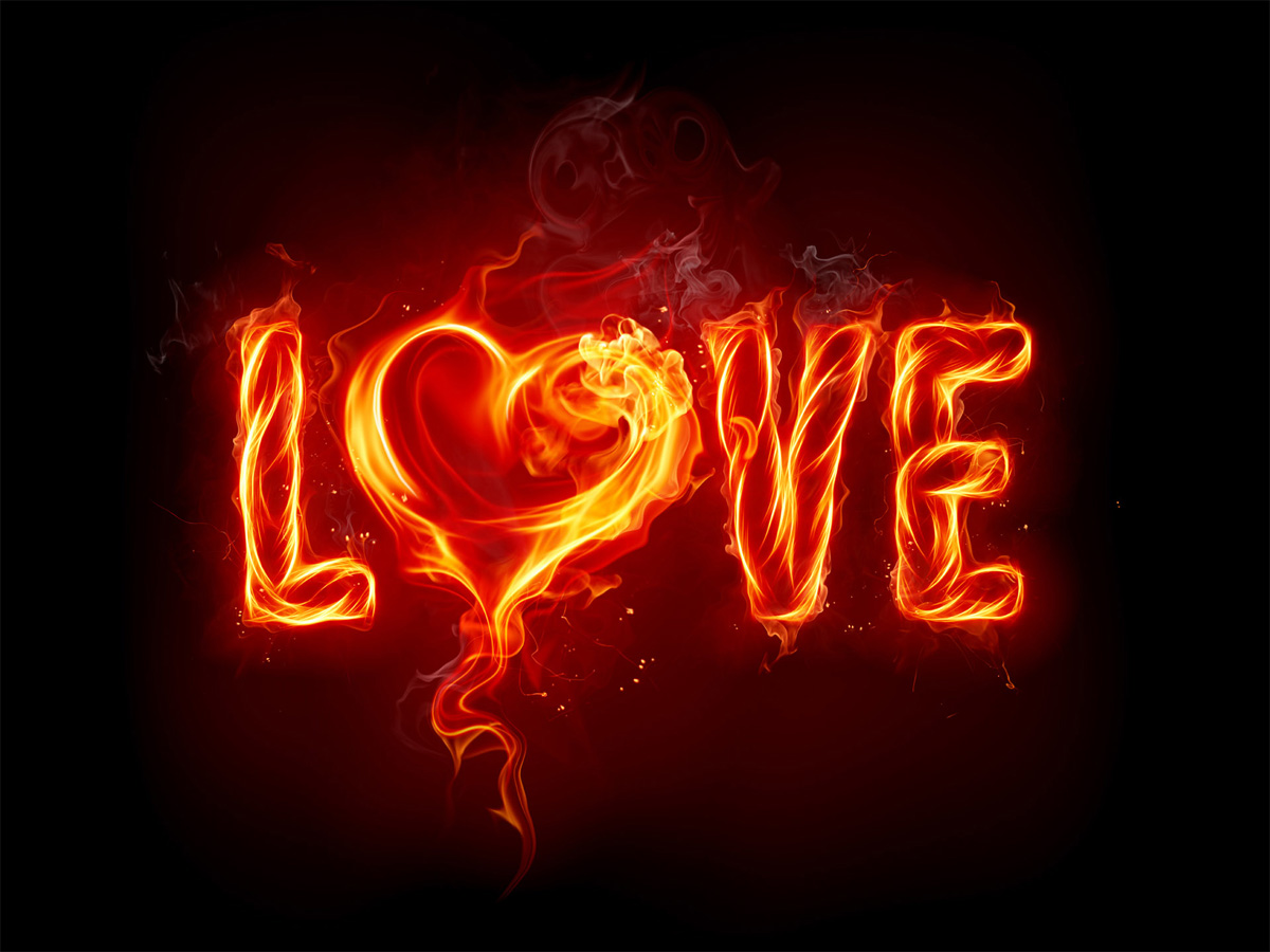 Fire Love Wallpaper